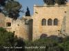 Torre de Tamarit - Al fons de la fotografia, el castell de Tamarit.