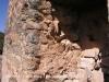 Torre de Vallferosa - Torà - El bastó de muntanya a penes es veu, comparat amb l'amplada de la paret de la torre ...