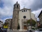 Torre del campanar de l'església de Santa Maria de Palautordera