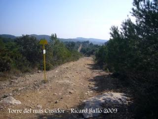 Torre del Mas Cusidor - Itinerari.