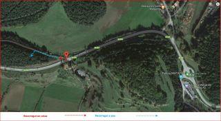 Torre del Pla de les Forques-Santa Pau-Captura de pantalla de Google Maps, complementada amb anotacions manuals