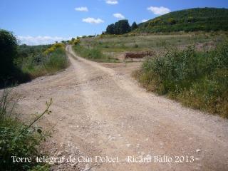 Itinerari per anar a la Torre del telègraf de Can Dolcet - Desviació (2).