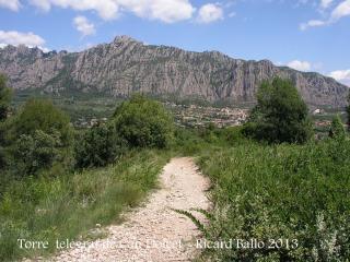 Itinerari per anar a la Torre del telègraf de Can Dolcet - Darrera part del recorregut.