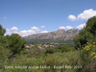 Vistes des de la Torre del telègraf de Can Dolcet.