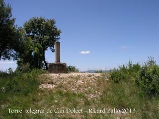 Itinerari per anar a la Torre del telègraf de Can Dolcet - Vèrtex geodèsic.