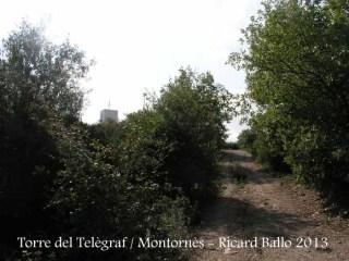 Torre del telègraf de Montornès del Vallès - Camí a peu.