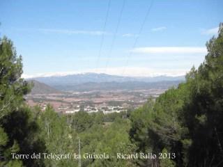 Vistes des de la Torre del Telègraf – La Guíxola – Sant Salvador de Guardiola - Vegi's la línia elèctrica.