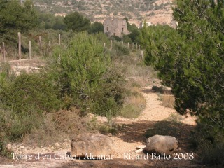Torre de'n Calvo-Alcanar-Pedres barrant el pas als vehicles motoritzats