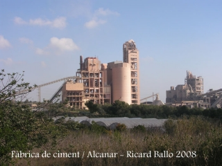 Torre de'n Morralla-Alcanar - Fàbrica de ciment