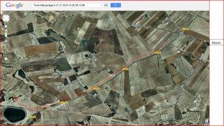 Torre d'Escarrega - Itinerari - Captura de pantalla de Google Maps, complementada amb anotacions manuals.