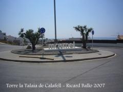 Calafell-Rotonda inici camí a la Torre la Talaia de Calafell.