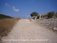 Camí a la Torre la Talaia de Calafell.