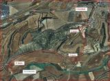 Torre Saportella - Itinerari - Captura de pantalla de Google Maps, complementada amb anotacions manuals.