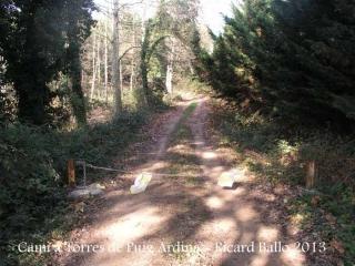 Torres de Puig Ardina – Riudarenes - Inici camí a peu.