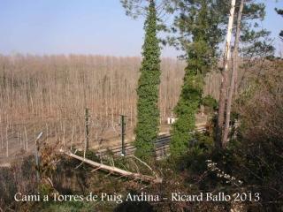 Torres de Puig Ardina – Riudarenes - Línia de tren.