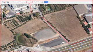 Torres del Mas de Ramon - Accès - Captura de pantalla de Google Maps, complementada amb anotacions manuals..