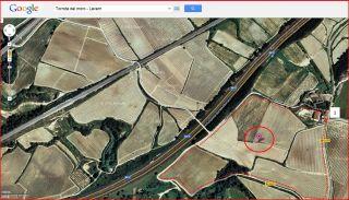 Torrota del moro - Lavern / Itinerari - Captura de pantalla de Google Maps, complementada amb anotacions manuals.