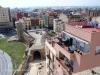 Tarragona - A l'esquerra apareixen les voltes del circ. Una mica més enrere, a l'esquerra, la Torre de les Monges