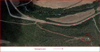 Església de Santa Àgata – Clariana de Cardener / Itinerari - Captura de pantalla de Google Maps, complementada amb anotacions manuals